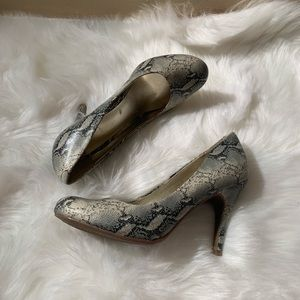 Mossimo Size 6.5 Animal Print Pumps Heel 3.75""